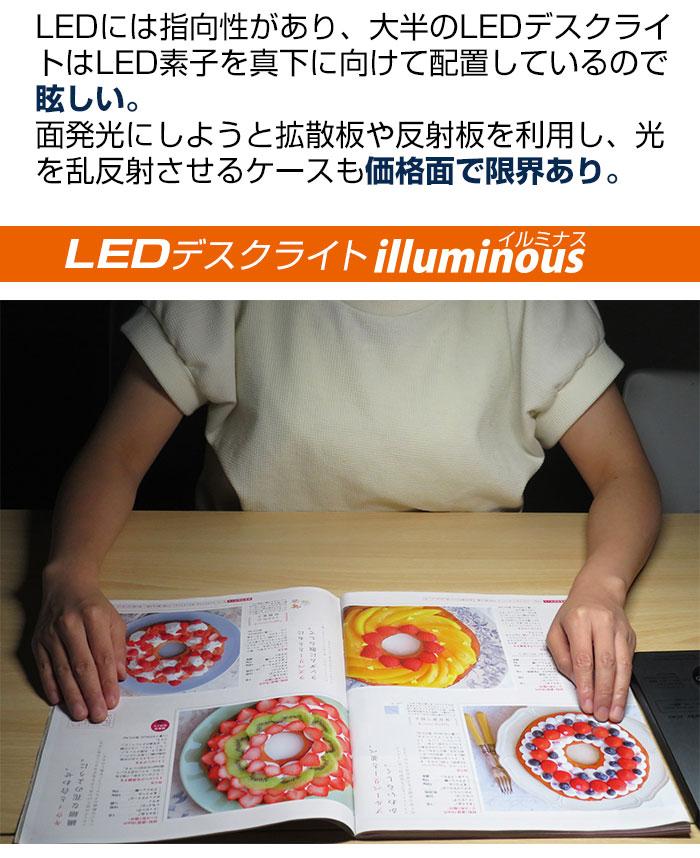 柔らかい面発光のLEDデスクライト illuminous(イルミナス)